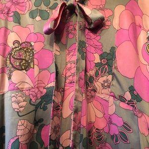 100% Silk Plenty Retro Pattern Dress